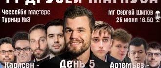 Шахматы. 11 друзей Магнуса - 5 день 25.06.2020 прямая трансляция