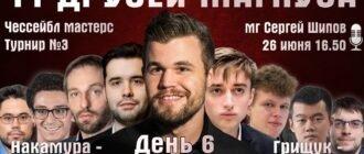 Шахматы. 11 друзей Магнуса - 6 день 26.06.2020 прямая трансляция