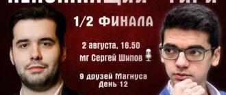 Шахматы. 9 друзей Магнуса - 12 день 02.08.2020 прямая трансляция